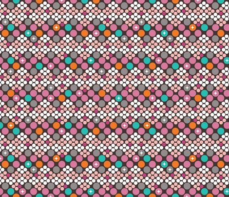 Jackie OMG- Mod Dotty Silk Scarf fabric by cynthiafrenette on Spoonflower - custom fabric