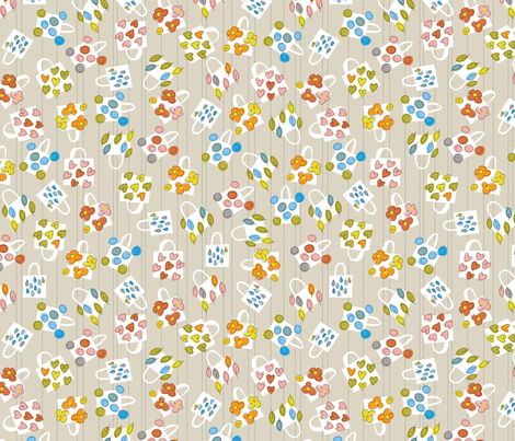 It's a Handmade World: BYOBag fabric by cynthiafrenette on Spoonflower - custom fabric