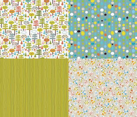 It's a Handmade World: Coordinates fabric by cynthiafrenette on Spoonflower - custom fabric