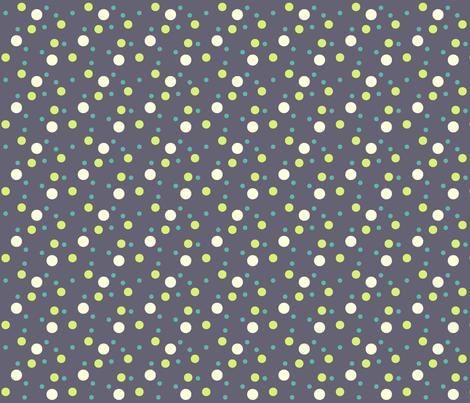 eggplant, cream dot fabric by sheila's_corner on Spoonflower - custom fabric