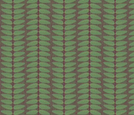 Hypericum Hicote leaf stripe (coordinate for Buttercups on a bush) fabric by victorialasher on Spoonflower - custom fabric