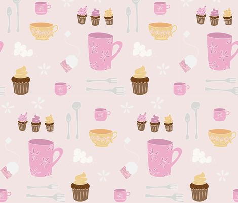 Tea Time (warm) fabric by wildflowerbee on Spoonflower - custom fabric