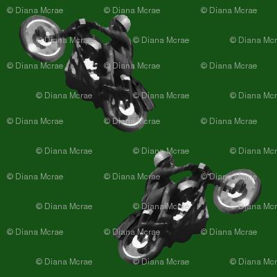 Vintage Motorcycles Racing Green Bikes