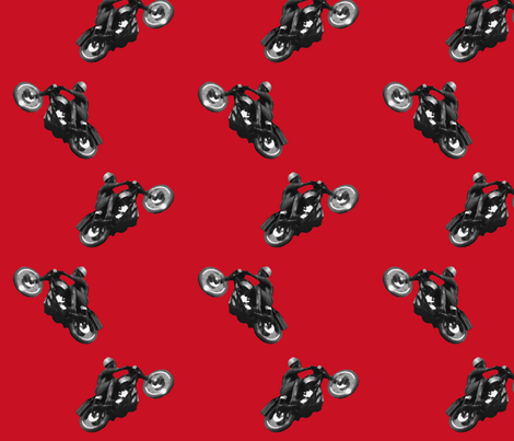 Vintage_motorcycles_berry_red fabric by dynamo on Spoonflower - custom fabric