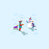 Clown_Boys__Snowman_and_dog_revise_colors_plus_6C