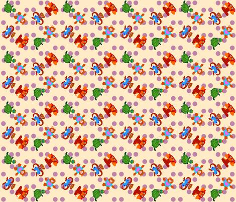 BabyQuiltDotsofPurpleRain fabric by grannynan on Spoonflower - custom fabric