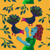 Woman_Peacocks