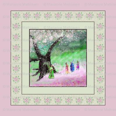 Fairy Cherry Tree Blossom, Pillow Design