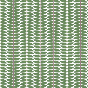 Hypericum Hidcote leaf stripe - tight - white (Coordinate for Buttercups on a bush)
