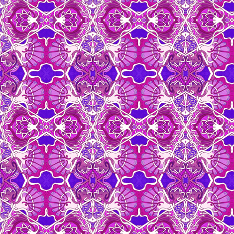 Raspberry Magenta Parquet fabric by edsel2084 on Spoonflower - custom fabric