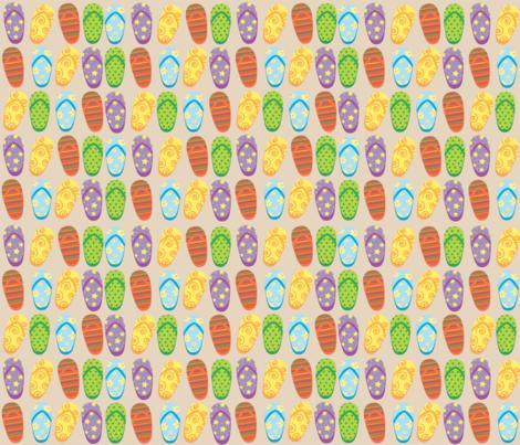 Flipflops Allover fabric by monettestudio on Spoonflower - custom fabric
