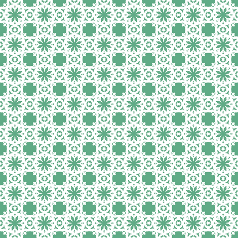 Lacy Daisy   -Mint fabric by fireflower on Spoonflower - custom fabric
