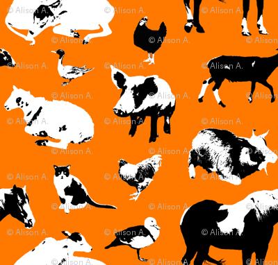 Farm Animals (Orange)