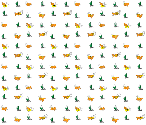 My sister's goldfishes fabric by pinturasraras on Spoonflower - custom fabric