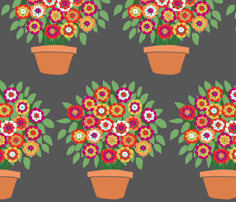 flowerpot_pattern fabric by lfntextiles on Spoonflower - custom fabric