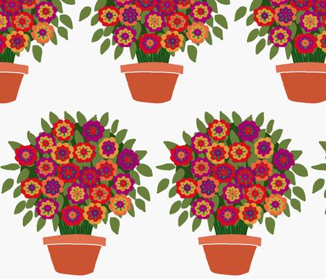 flowerpot fabric by lfntextiles on Spoonflower - custom fabric