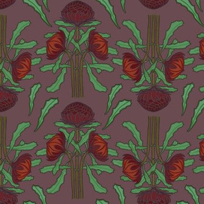 Darker waratahs (Art Nouveau) by Su_G_©SuSchaefer