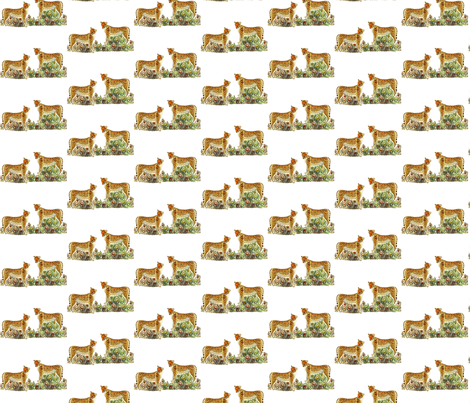 cheetahs__panthers_on_the_grass fabric by vinkeli on Spoonflower - custom fabric