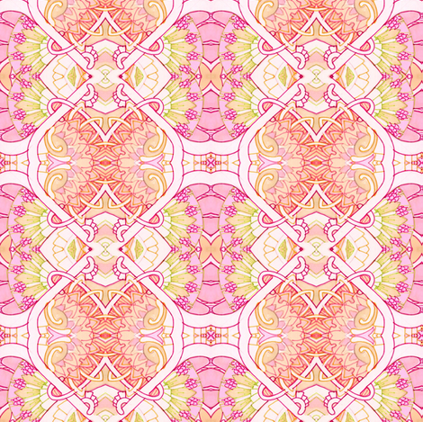 Pink and Peach Girlie Diamonds fabric by edsel2084 on Spoonflower - custom fabric