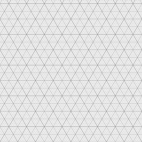 Equilateral Triangle / Hexagonal Graph : Grey Giftwrap - Sef