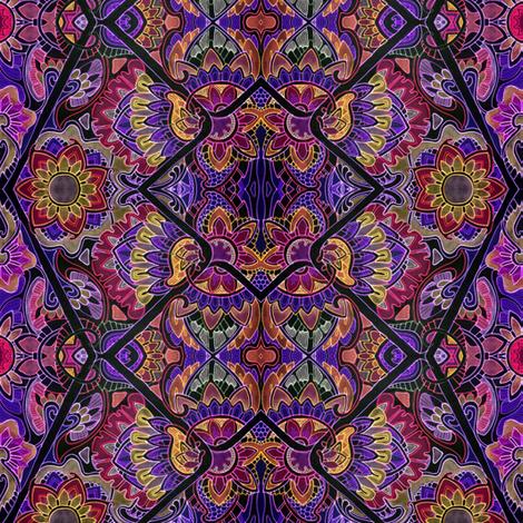 Neon Night Flower Bloom fabric by edsel2084 on Spoonflower - custom fabric