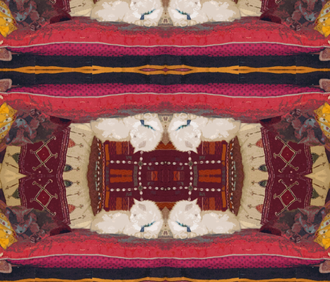 Sprocket & Louie-Louie on Gujarati Pillows  fabric by susaninparis on Spoonflower - custom fabric