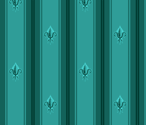 FDL Marine Green fabric by glimmericks on Spoonflower - custom fabric