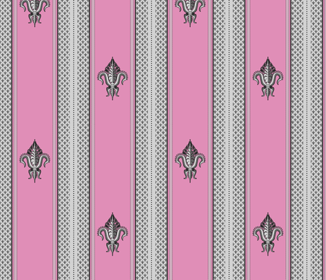 FDL Pink and Grey fabric by glimmericks on Spoonflower - custom fabric