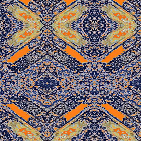 Carpet Bag Blue fabric by susaninparis on Spoonflower - custom fabric