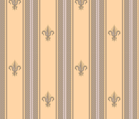 FDL Apricot and Lavender fabric by glimmericks on Spoonflower - custom fabric