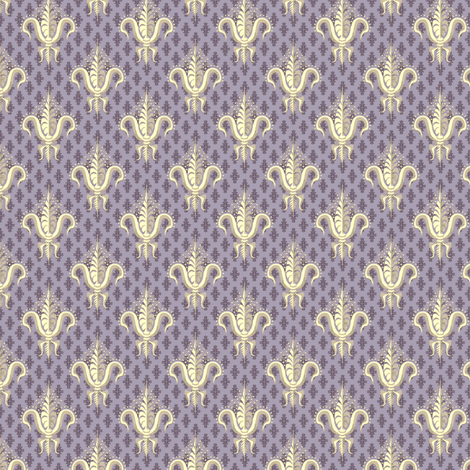 FDL Buttercream Mulberry fabric by glimmericks on Spoonflower - custom fabric