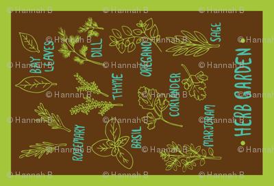 Herb Tea Towel (brown)