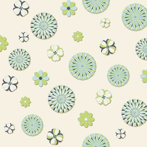 Flowers - Kiwi fabric by sheila_marie_delgado on Spoonflower - custom fabric