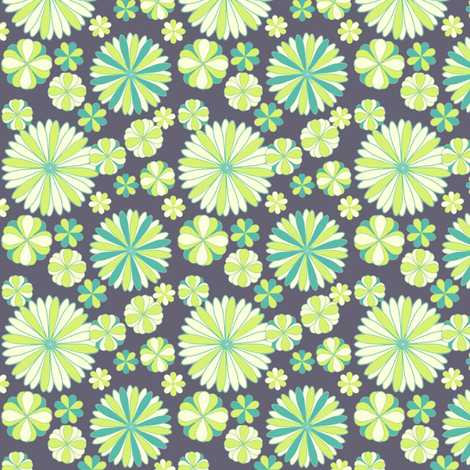 Eggplant Floral  fabric by sheila's_corner on Spoonflower - custom fabric