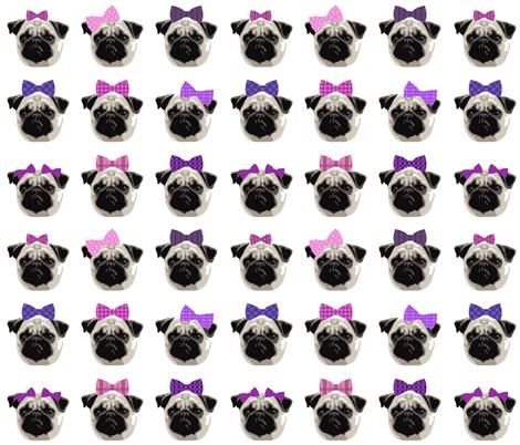 Pretty Pug Girls fabric by run_quiltgirl_run on Spoonflower - custom fabric