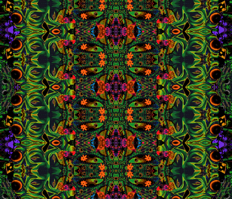 Happy Hippy Ghoul fabric by whimzwhirled on Spoonflower - custom fabric