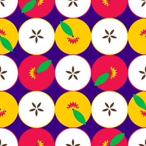 Half Apples fabric by nekineko on Spoonflower - custom fabric