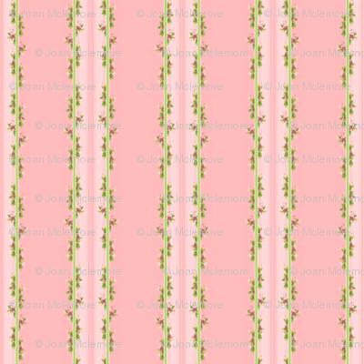 Parson's Pink in Vine Stripe