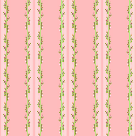 Parson's Pink in Vine Stripe  fabric by joanmclemore on Spoonflower - custom fabric
