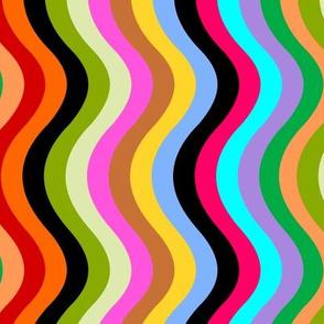 DOTD stripe multi on black
