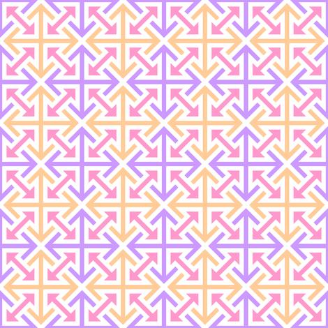 quad-arrow 4m X fabric by sef on Spoonflower - custom fabric