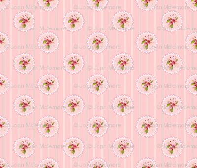Parson's Pink Roses Medallion Small