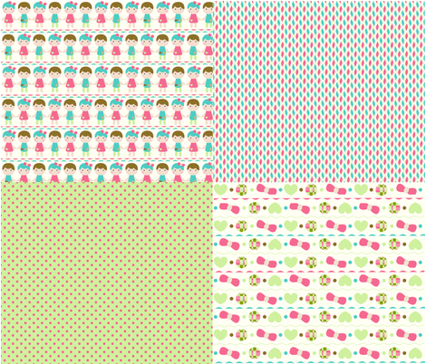 coresponding_pattern_girl_and_boys fabric by bonnitagraphics on Spoonflower - custom fabric