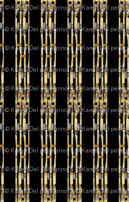 Pharaoh Inspired Striped Coordinate