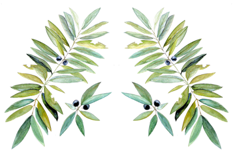 Leaves and Berries fabric by betweentheweeds on Spoonflower - custom fabric