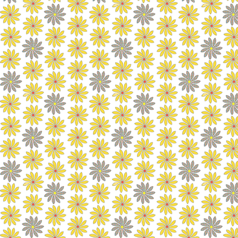Ditsy Dots & Plaid Flowers fabric by cksstudio80 on Spoonflower - custom fabric