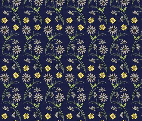 Denim Wildflowers fabric by cksstudio80 on Spoonflower - custom fabric
