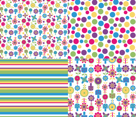 coordinates flowers  fabric by jlwillustration on Spoonflower - custom fabric
