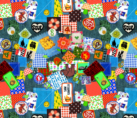 Thrift Store Patches fabric by pkfridley on Spoonflower - custom fabric
