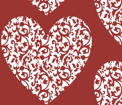 damask_heart_003 fabric by lowa84 on Spoonflower - custom fabric
